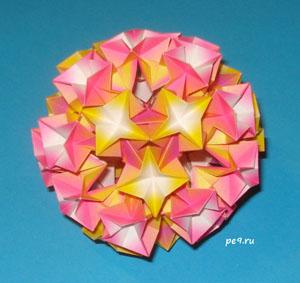 Кусудамы, оригами